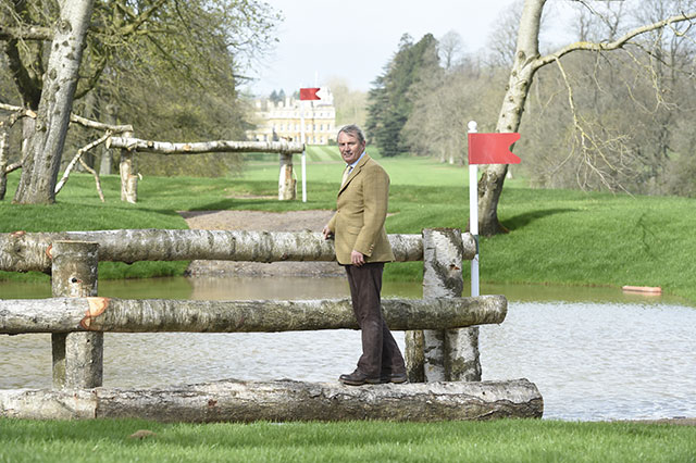Giuseppe Della Chiesa at one of the new pond fences at Badminton