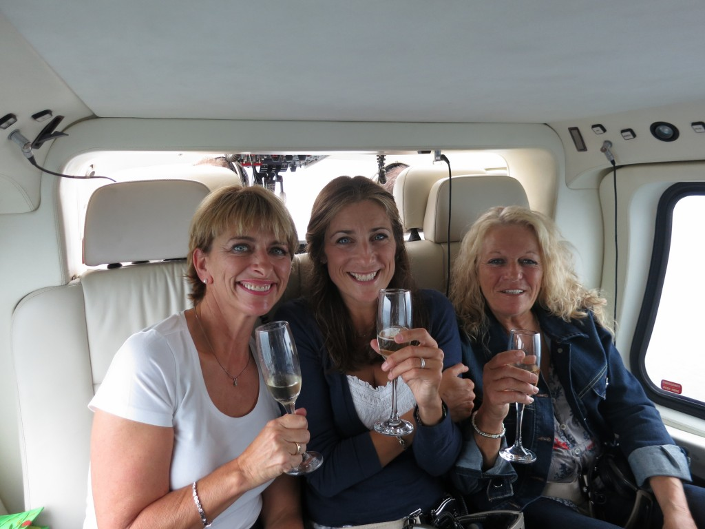Champagne helicopter flight to Paris