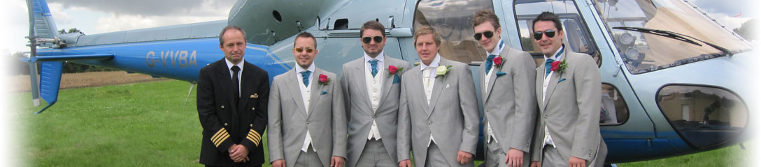 Wedding Party with Helicopter