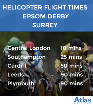Helicopter Flight times to the Epsom Derby