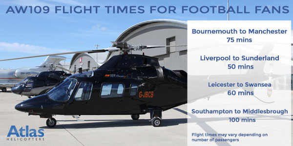 Flight times for Football fans in an AW109