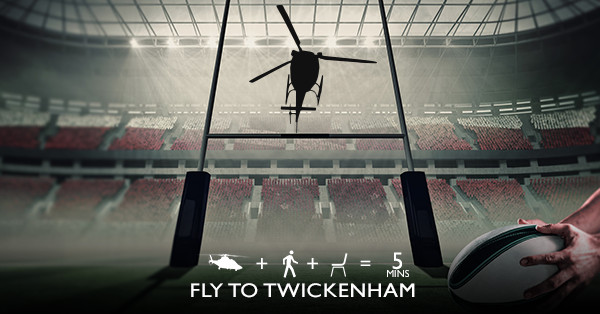 Fly to Twickenham