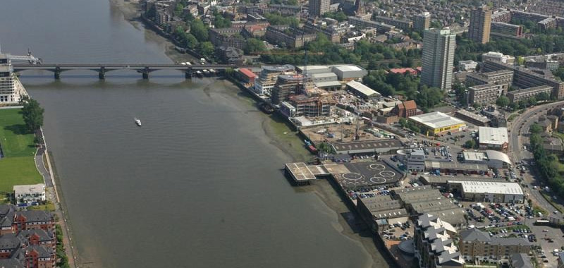 Battersea Heliport Aerial