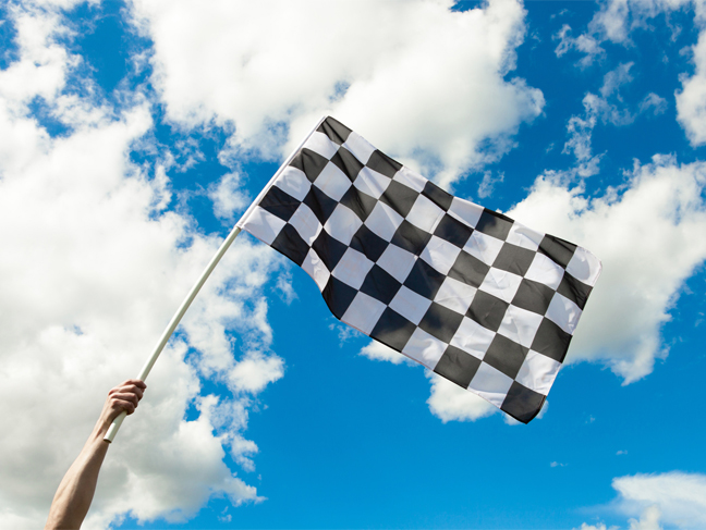 British Grand Prix starting flag