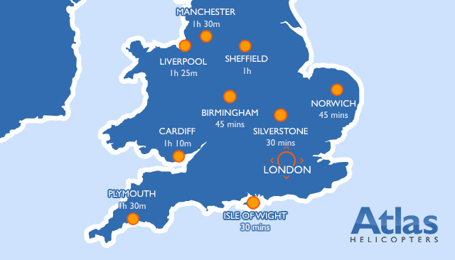 Destinations In the UK 90 minutes from London