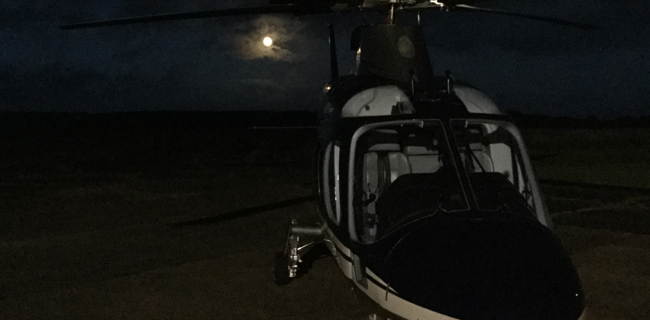 Night flights charter helicopters