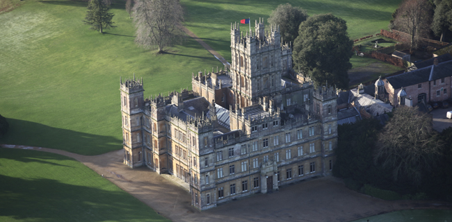 A Flight Over Downton Abbey