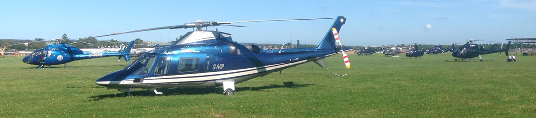 Charter a helicopter to a horse racing course