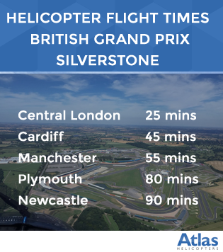 Helicopter to Silverstone and the F1 British Grand Prix