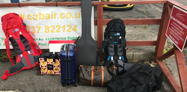 All the luggage you need as a couple for a music festival