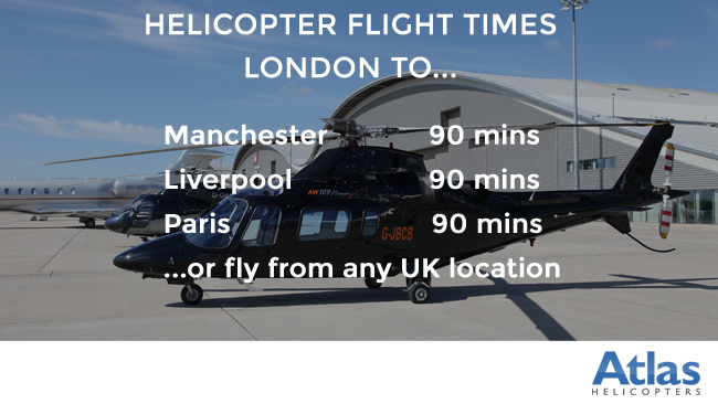 Flight times for Football fans in an AW355 Champions League