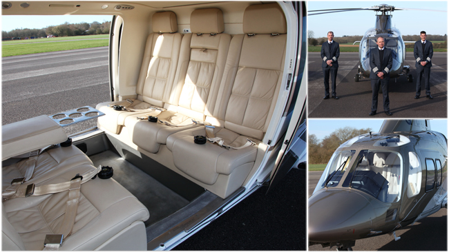 Agusta 109 - London Heliport - Up to 6 Passengers with VIP Leather Interior
