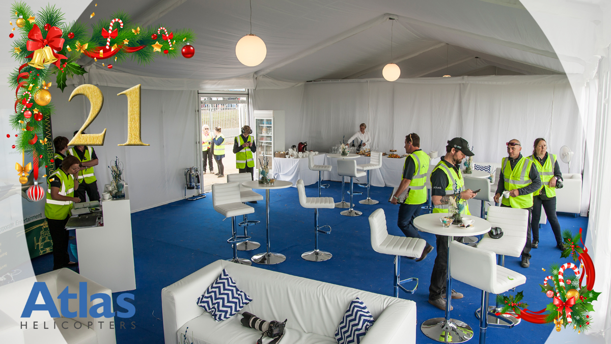 Preparing our exclusive VIP lounge at Silverstone