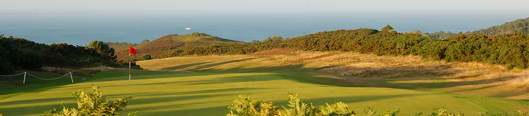 The British Open- Image of golf course overlooking the sea